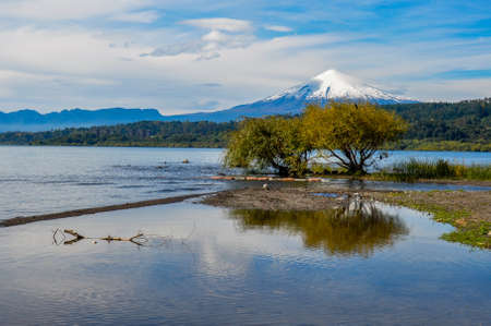 excitacion: Vista del Volc�n Villarrica de s� mismo Villarrica, Chile.
