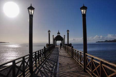 excitacion: Muelle de Frutillar, en Chile. Foto de archivo