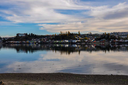 woodcraft: Tranquility and reflections, Chiloe Island, Chile.