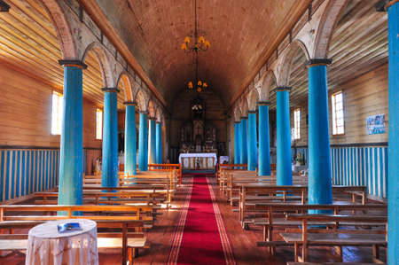 woodcraft: Gorgeous Colored and Wooden Churches, Chiloe Island, Chile.