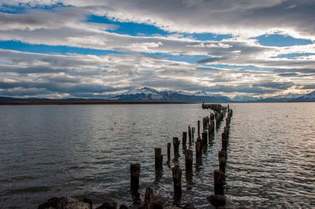 By the waterside in Puerto Natales, Chile. photo