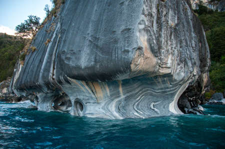 marmol: Marmol Cathedral rock formation, Carretera Austral, HIghway 7, Chile. Stock Photo
