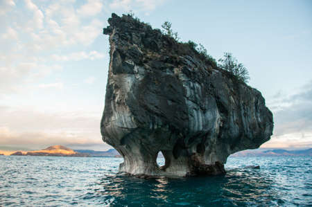Marmol Cathedral rock formation, Carretera Austral, HIghway 7, Chile. Stock Photo