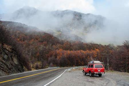 tierra del fuego: Road trip in Autumn in Tierra del Fuego, Argentina. Editorial