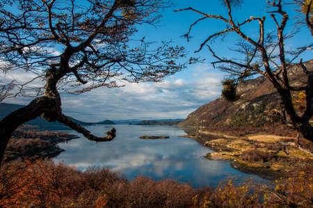 Landscapes of Tierra del Fuego, South Argentina. Stock Photo