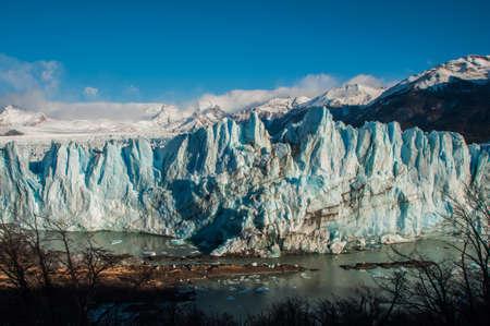 noise isolation: Beautiful landscapes of Perito moreno Glacier, Argentina. Stock Photo