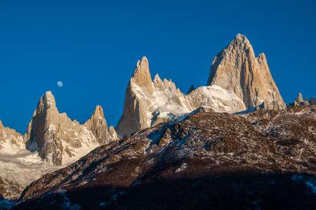 fitz: Sunrise over Fitz Roy mountain range, Argentina.