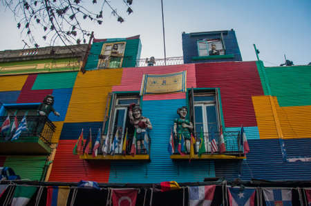 La Boca colorful houses neighborhood, Buenos Aires, Argentina.