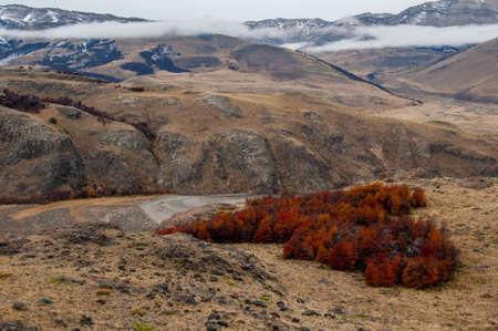 fitz: Autumn in El Chalten, Fitz Roy, Argentina. Stock Photo