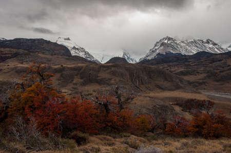 el chalten: Autumn in El Chalten, Fitz Roy, Argentina. Stock Photo