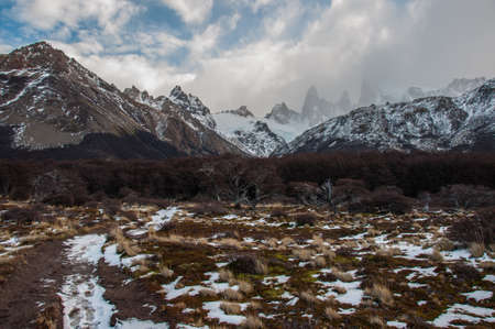 fitz: Landscapes of South Argentina, in the Fitz Roy trail. Stock Photo