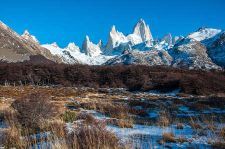 cerro chalten: Landscapes of South Argentina, in the Fitz Roy trail. Stock Photo