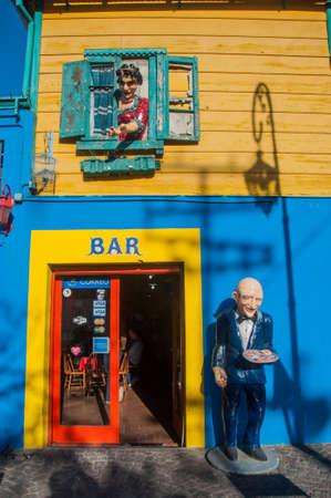 la boca: La Boca colorful houses neighborhood, Buenos Aires, Argentina.