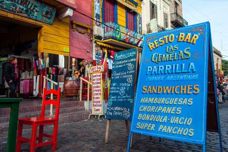 La Boca colorful neighborhood , Buenos Aires, Argentina Editorial