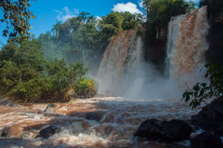 Incredible and gorgeous waterfalls of Iguazu, Argentina. photo