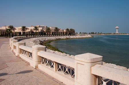 Boardwalk in Al Khobar, Saudi Arabia.