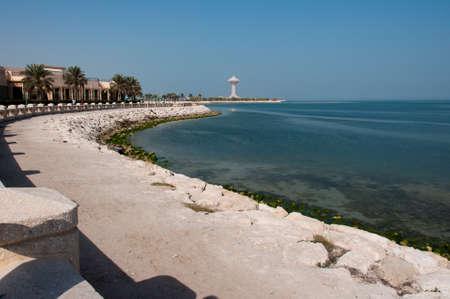 arabia: Boardwalk in Al Khobar, Saudi Arabia.