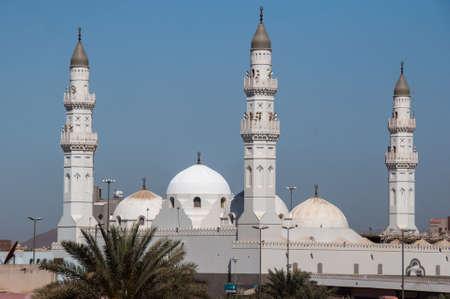 Quba Moskee in Al Madinah, Saoedi-Arabië. Stockfoto
