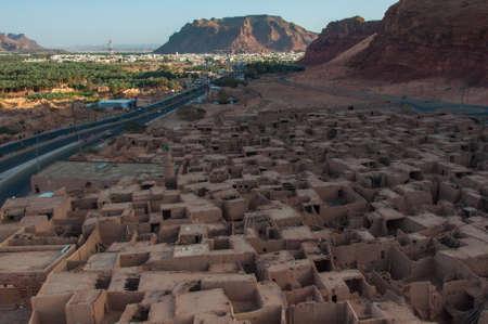 al: Overlooking the old city of Al Ula, Saudi Arabia.