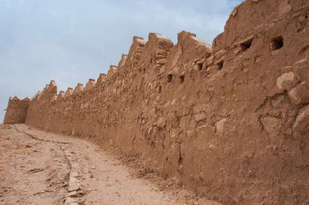 ad: Walls of Old At-Turaif district near Ad Diriyah, Saudi Arabia.