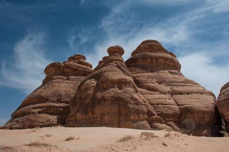 large formation: Rock formations in Madain Saleh, Saudi Arabia.