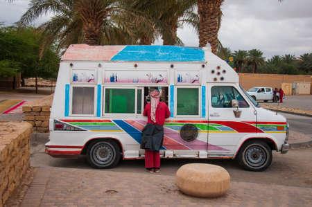 Ice cream truck in Riyadh, Saudi Arabia.