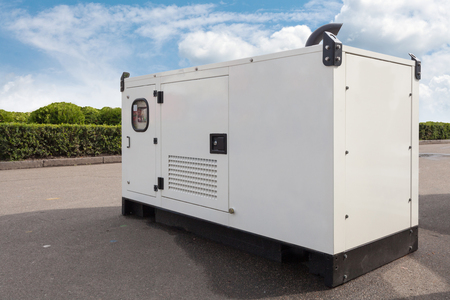 Mobile diesel generator for emergency electric power Imagens