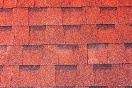 Red asphalt shingle