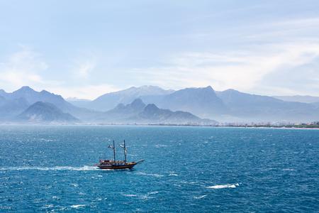 Beautiful view of Antalia harbor in old Turkey Stok Fotoğraf - 84929815
