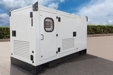 Mobile diesel generator for emergency electric power 스톡 콘텐츠