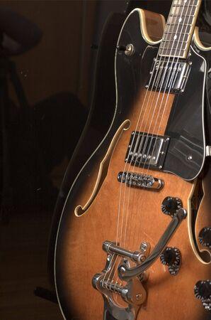 ・ ジャズ ・ ギター 写真素材