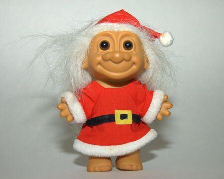 troll dolls: Santa Troll. Stock Photo