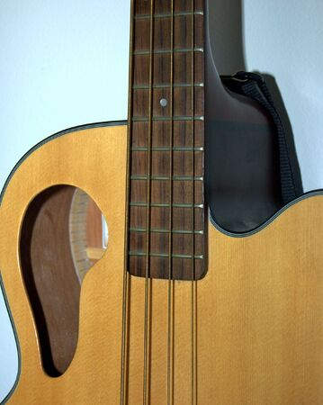 Acoustic bass guitar. Stock Photo - 672959