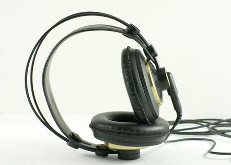 A pair of stereo headphones.
