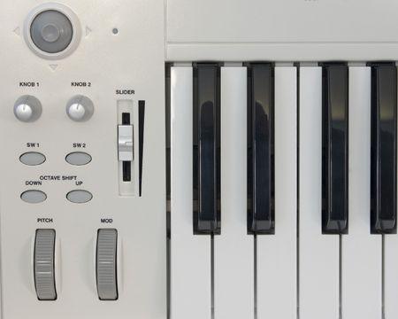 コンピューター音楽キーボード コント ローラーのセクション。