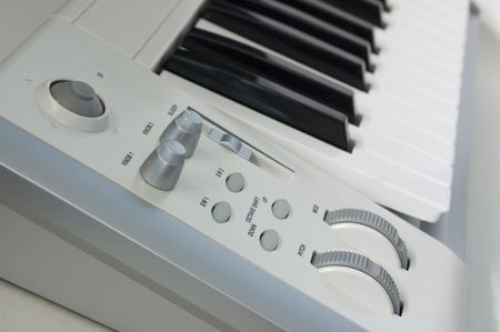 A section of a  music keyboard controller.