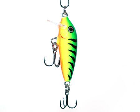 Macro closeup shot of a fishing lure. Banco de Imagens - 4226290