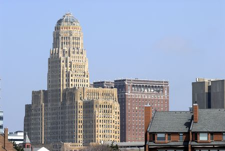Buffalo New York City Hall von der R�ckseite.