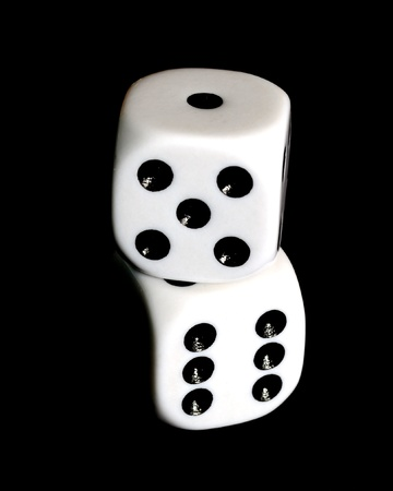 Close up of a pair of dice with eleven showing.