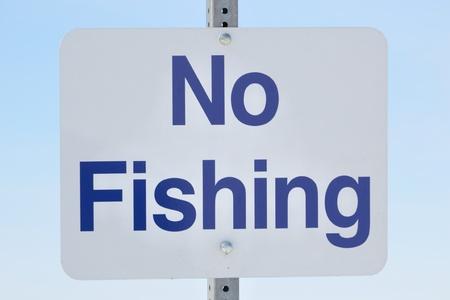 No Fishing Sign photo