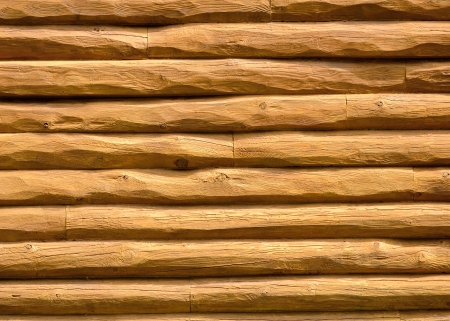 Log Cabin Wall for arts background or copy space.