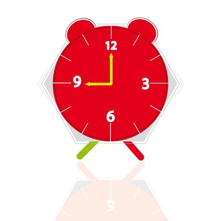 ébredés: Óra, ébresztőóra jelölés kilenc óra karóra vicces, különböző színekben