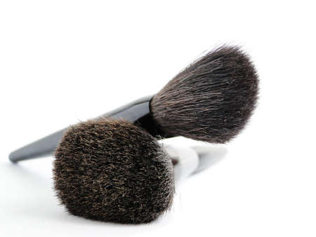 face powder: cosmetic brushes