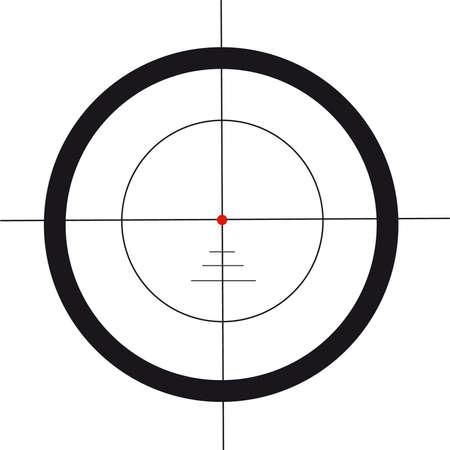 ライフル銃のスコープ
