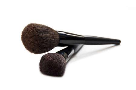 Cosmetic brushes isolated on white background Stock Photo