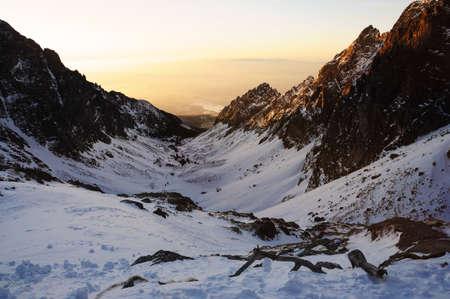 Mountain sunset Stock Photo