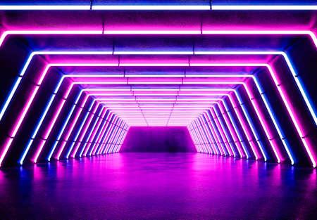 Fondo de neón. Concepto de fondo de noche de luz electrónica. Foto de archivo