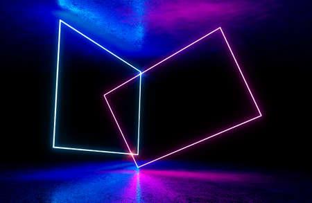 Fondo de neón. Concepto de fondo de noche de luz electrónica.