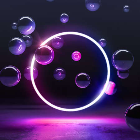 Color neon electronic style disco background concept.