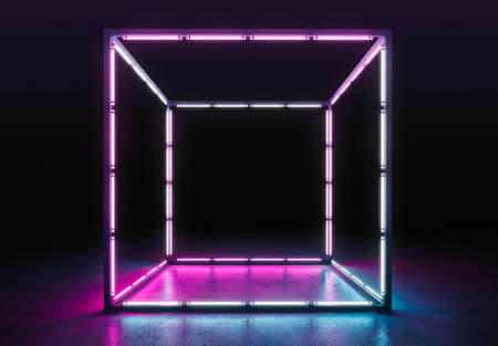 Neon background. Electronic light night background concept.